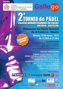 CARTEL TORNEO PADEL 2017